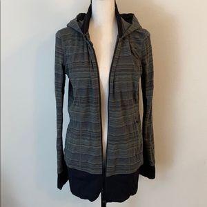 Lululemon Long Striped Zip Up Jacket